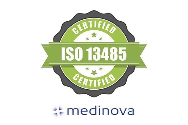 Medinova awarded medical device ISO certification