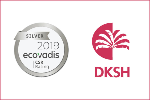 DKSH achieves EcoVadis silver rating for Sustainability