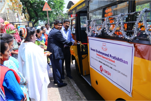 DKSH donates a new school bus to a center for children with special needs in India