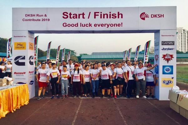 "DKSH organized first ""Run and Contribute"" marathon in Myanmar"