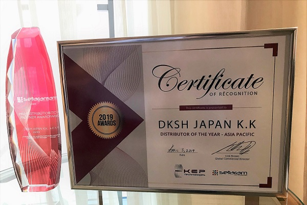 "DKSH awarded by Setaram as ""Distributor of the year - Asia Pacific 2018"""