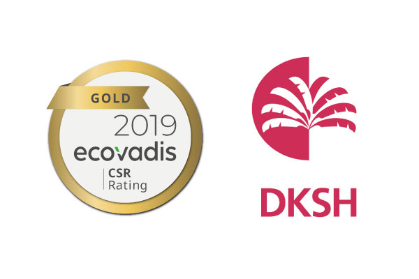 DKSH France achieves EcoVadis gold rating for the third consecutive year.