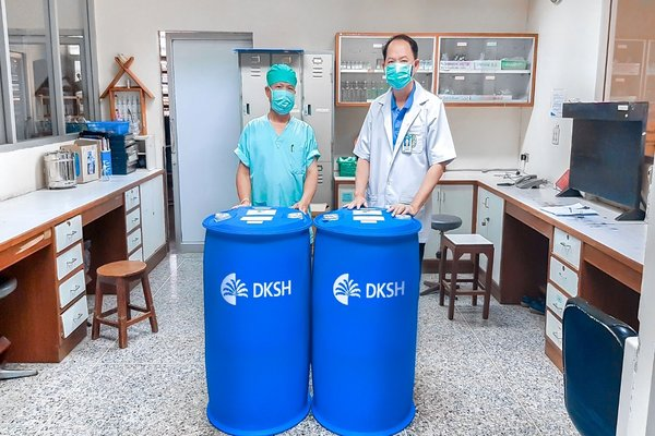 DKSH donates ethanol to use as disinfectant for hospitals and medical facilities across Thailand