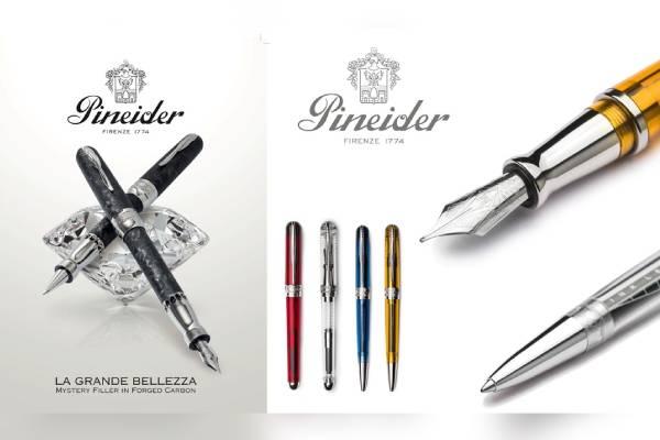 イタリア老舗ステーショナリーブランド「ピナイダー」、新製品『アバターURデモ』『フォージドカーボン』発売