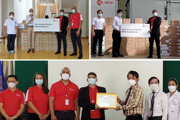 DKSH Cambodia donates important COVID-19 prevention materials and essential medical supplies to hospitals